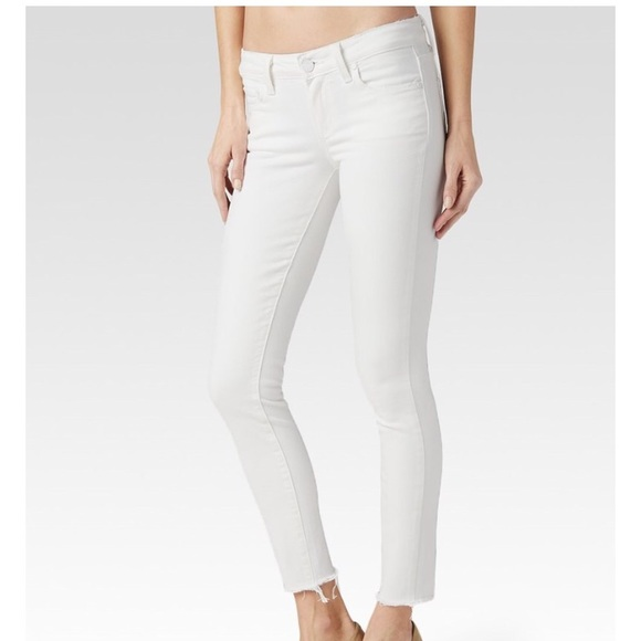 a16d62e5c69 PAIGE Jeans | Verdugo Ankle Distressed Optic White With Raw Hem ...